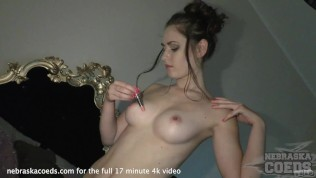 Gorgeous New Barely18yo Sanja Back And Behind The Movies With Closups